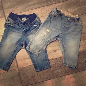H&M baby jeans 4-6 mos